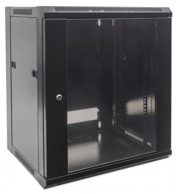 Intellinet (19 inch) Wallmount Cabinet 15U Flatpack (Black)
