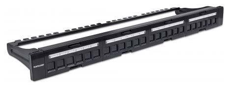 Intellinet Blank Patch Panel 24-Port 1U (Black)