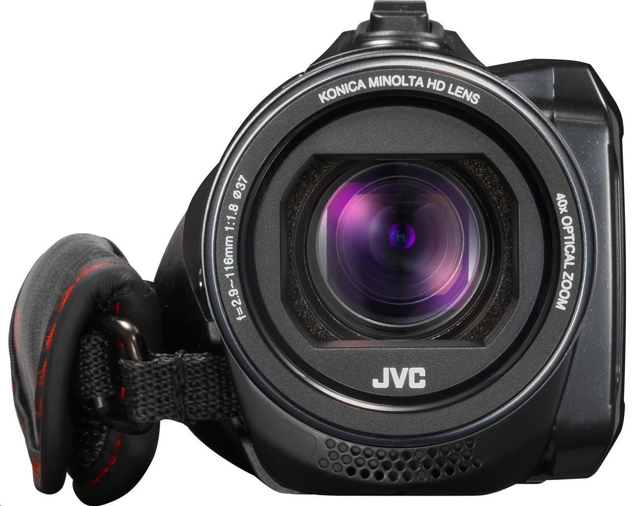 Bundle: JVC EverioR QUAD-PROOF GZ-RX610BEK Memory Card Camcorder