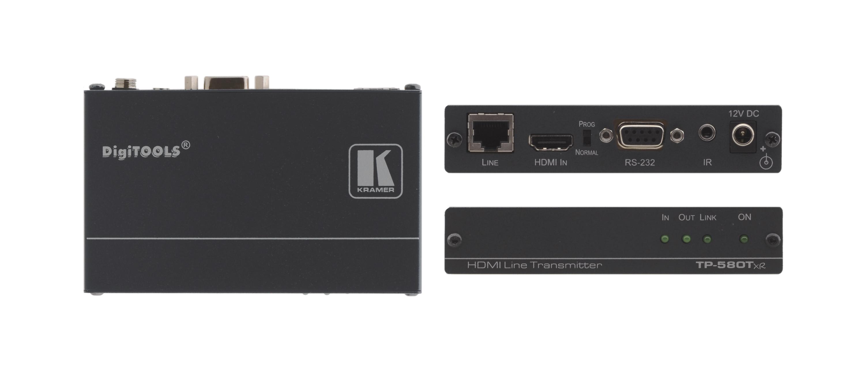 Kramer HDMI, Bidirectional RS-232 & IR over Extended Range HDBaseT Twisted Pair Transmitter