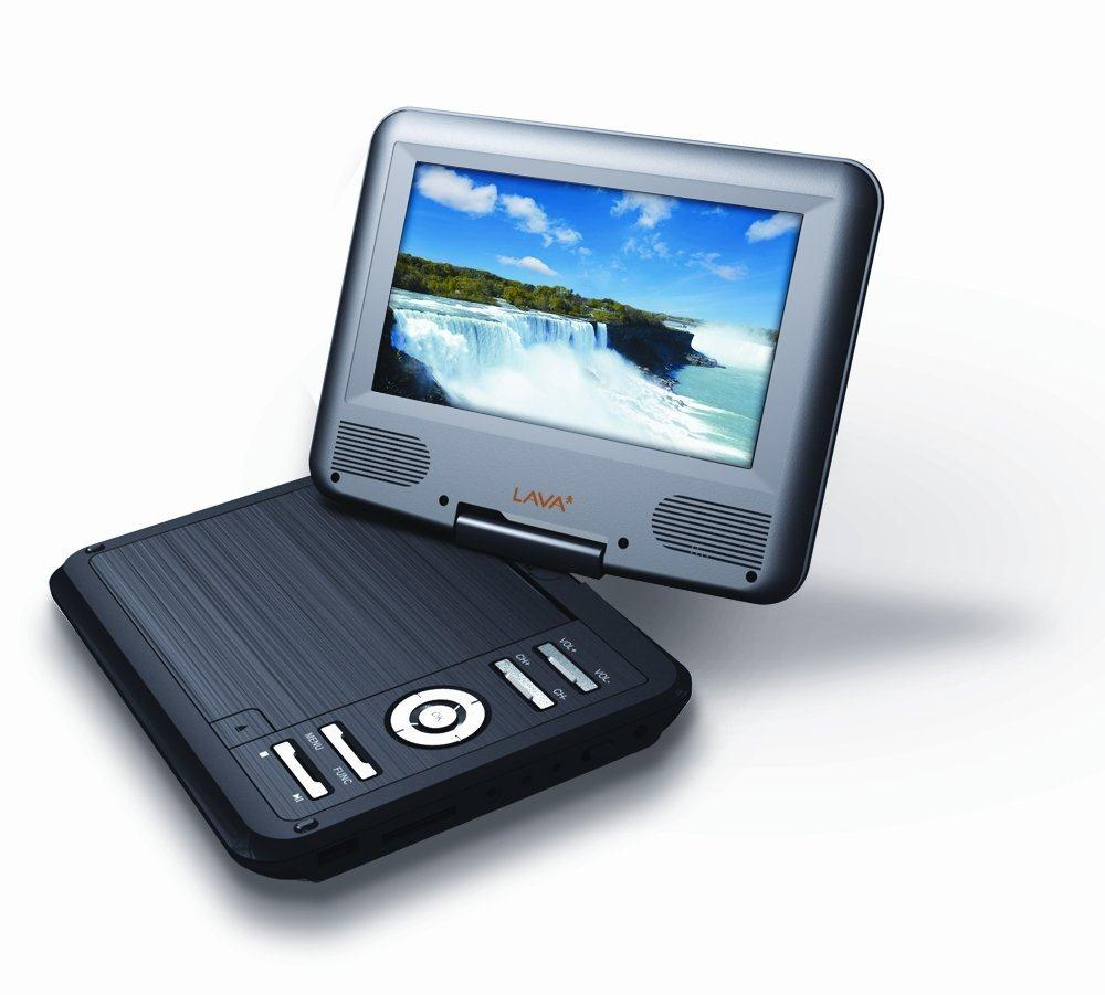 Bundle: Lava DVD Player with (7 inch) TFT LCD Screen with 4 x Family DVDs