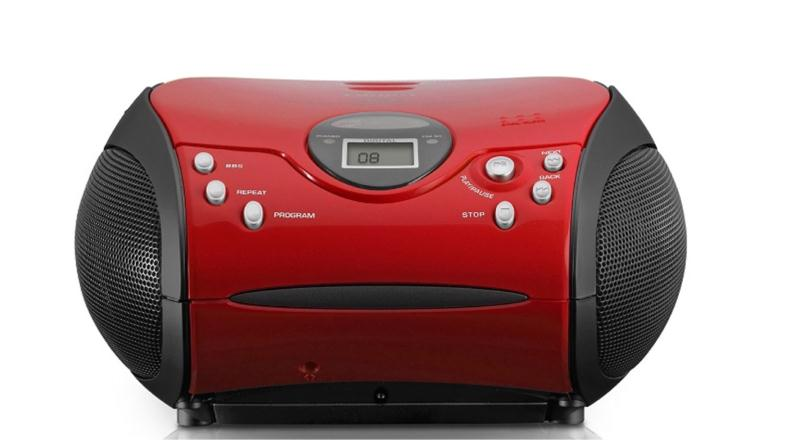 Lenco SCD-24 Stereo FM Radio With CD Player (Red)