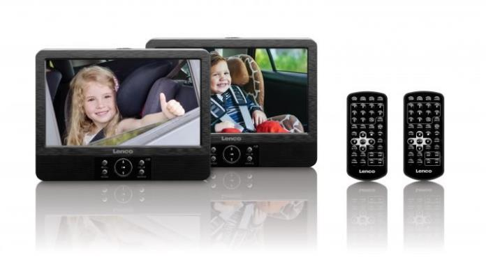 Lenco DVP-928 2 x 9 inch Portable DVD Players (Black)