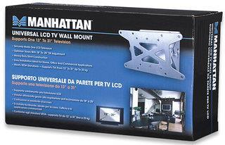 Manhattan Universal Flat Panel Tilting TV Wall Mount 13-31 Inch TV's (Silver)