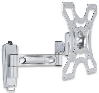 Manhattan Universal Flat Panel TV Articulating Double Arm Wall Mount 17 -37 Inch TV's (Silver)