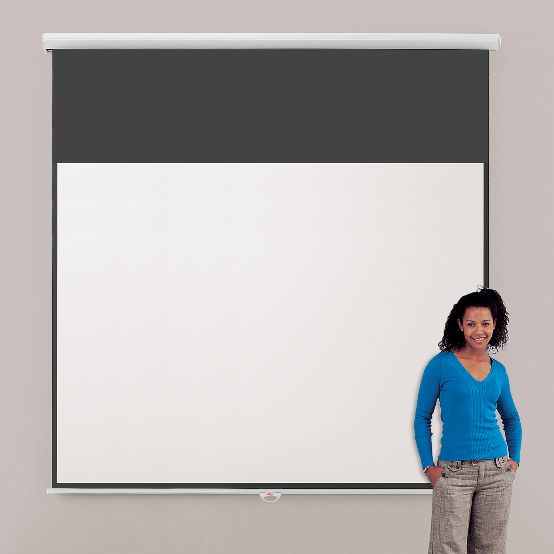 Metroplan Eyeline (1800mmx2400mm) Video 4:3 Design Manual Projection Screen (White)