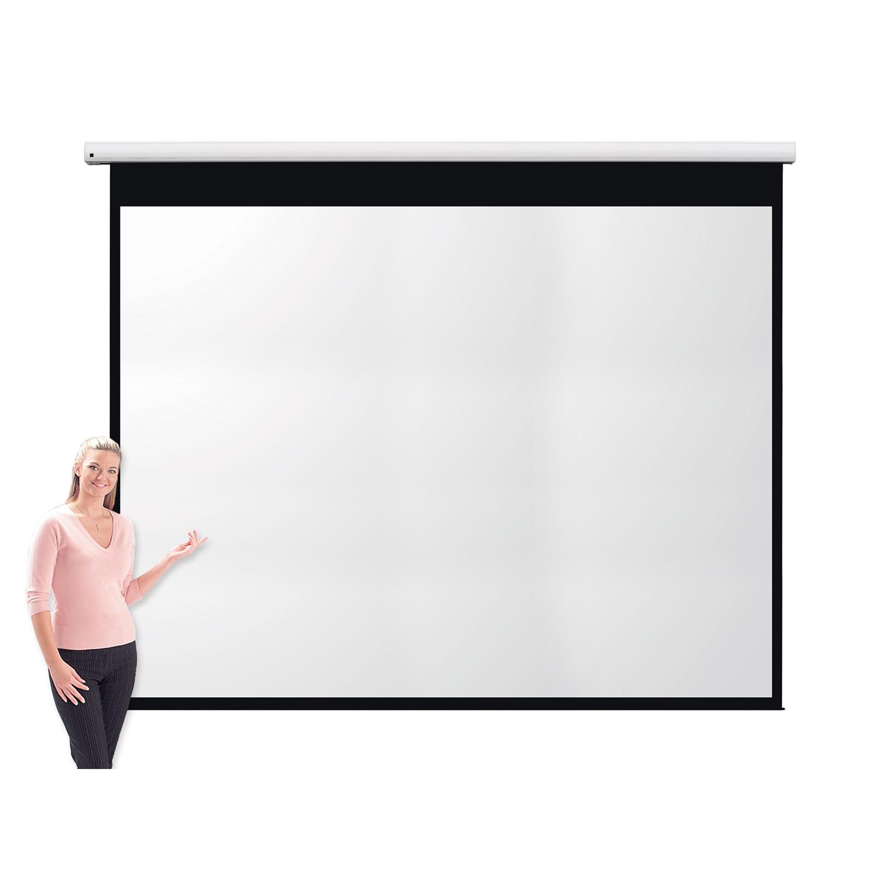 Metroplan Eyeline (2286mm x 3048mm) Video 4:3 Pro Channel Fix Electric Projection Screen (White)