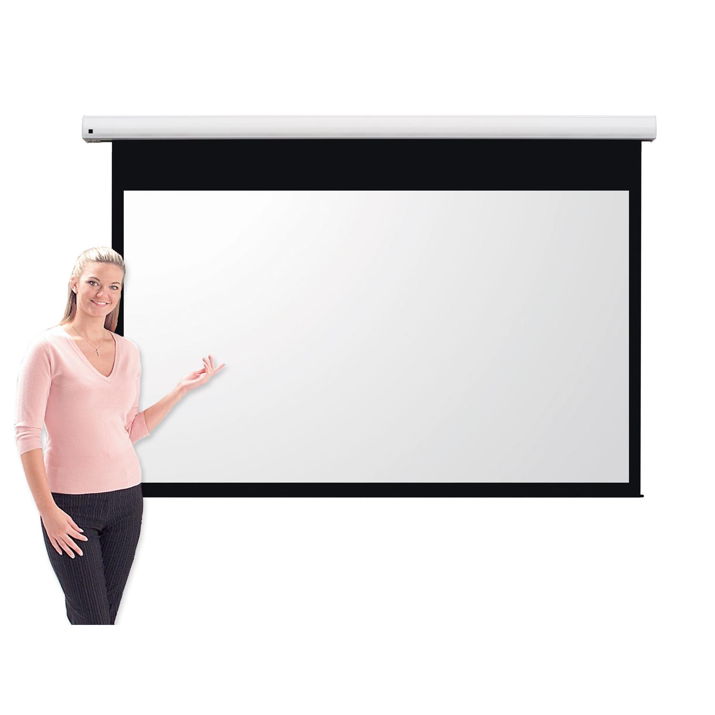 Metroplan Eyeline (1146mm x 2030mm) Widescreen 16:9 Pro Channel Fix Electric Projection Screen (White)