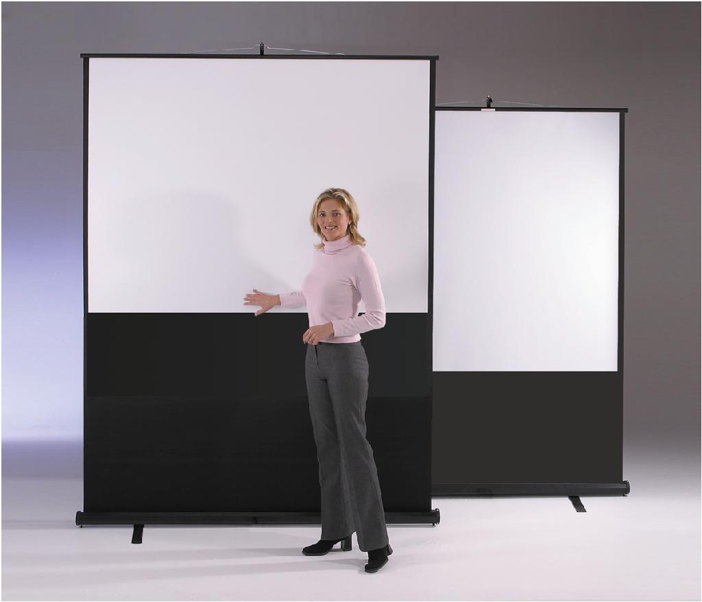 Metroplan Eyeline (1130mmx2000mm) Widescreen 16:9 Floor Projection Screen (White)