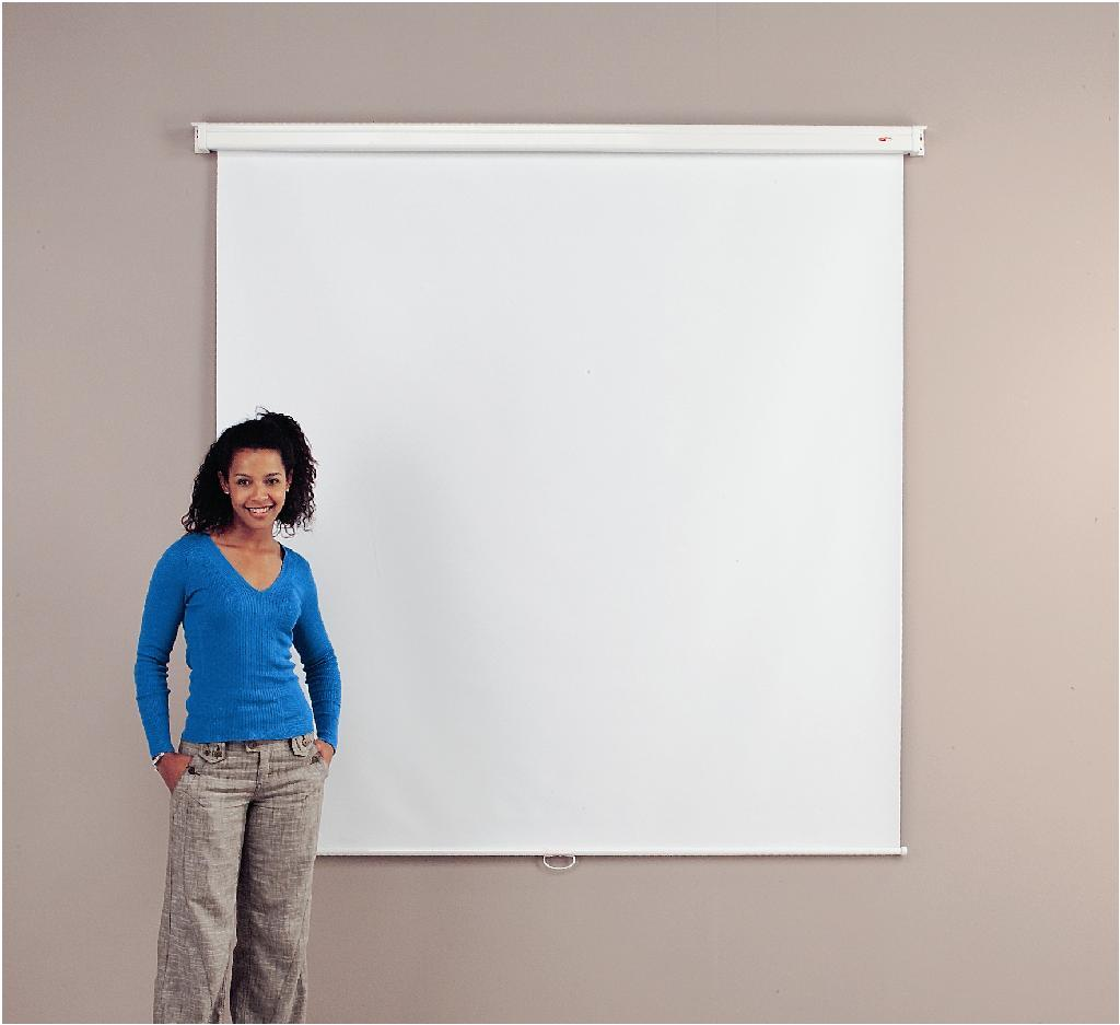 Metroplan Eyeline (1250mmx1250mm) Square 1:1 Basic Wall Projection Screen (White)