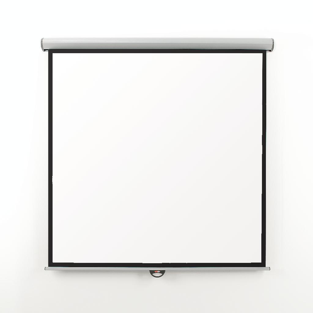 Metroplan Eyeline (1600mmx1600mm) Square 1:1 Design Manual Projection Screen (White)