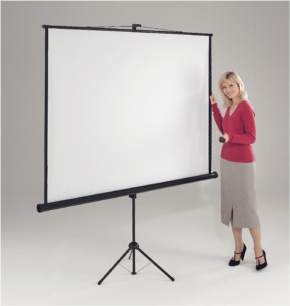 Metroplan Eyeline (1500mmx1500mm) Square 1:1 Presenter Projection Tripod Screen