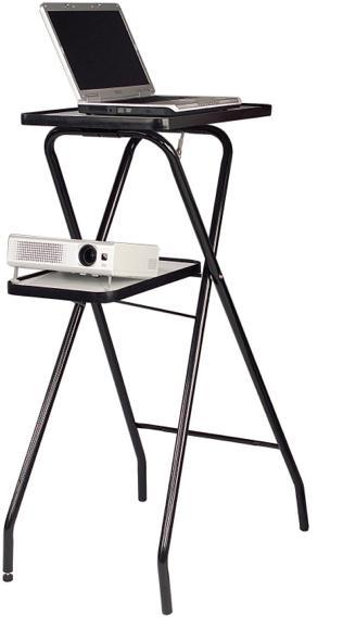 Metroplan (1150mm x 600mm x 450mm) Folding Projector Stand (Black)