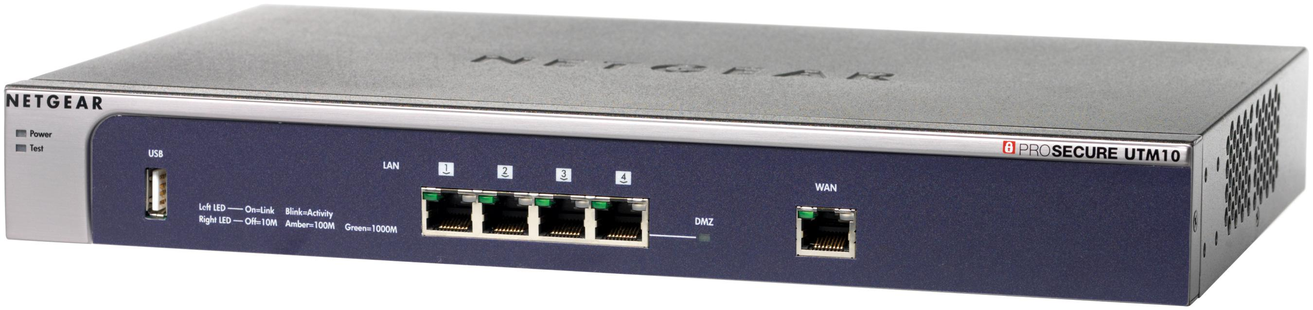 Bundle: Netgear ProSecure Unified Threat Management 10 Appliance + 1 Year Web + 1 Year Email + 1 Year Software Maintenance and Upgrades, 24/7 Support and Advanced Replacement