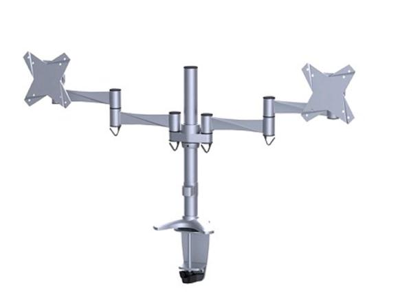 NewStar FPMA-D1330DSILVER Desk Mount (Silver) for 10 inch to 24 inch Flat Screens