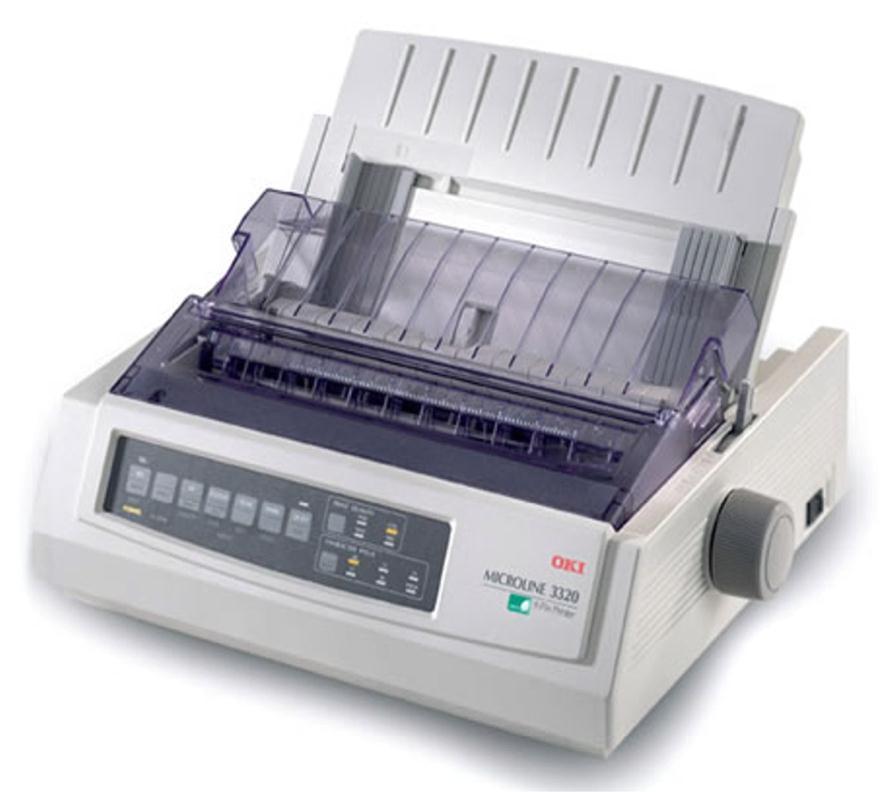 OKI Microline ML3320eco 9-pin Dot Matrix Printer 80 Column 240x216dpi USB/Parallel (Epson FX, IBM ProPrinter, OKI MicroLine Emulation)
