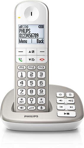 Philips Cordless Phone XL4952S (2 Handsets) With Answering Machine