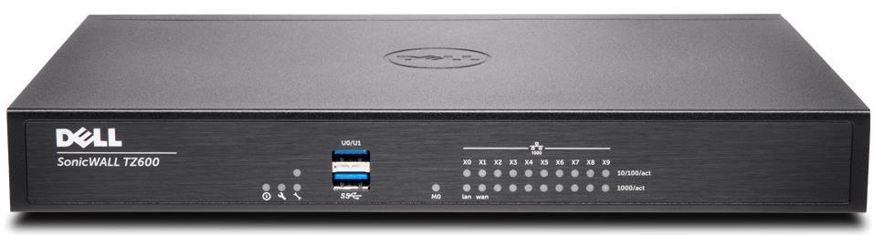 SonicWALL TZ600 Network Security Gigabit Ethernet Firewall (Black)