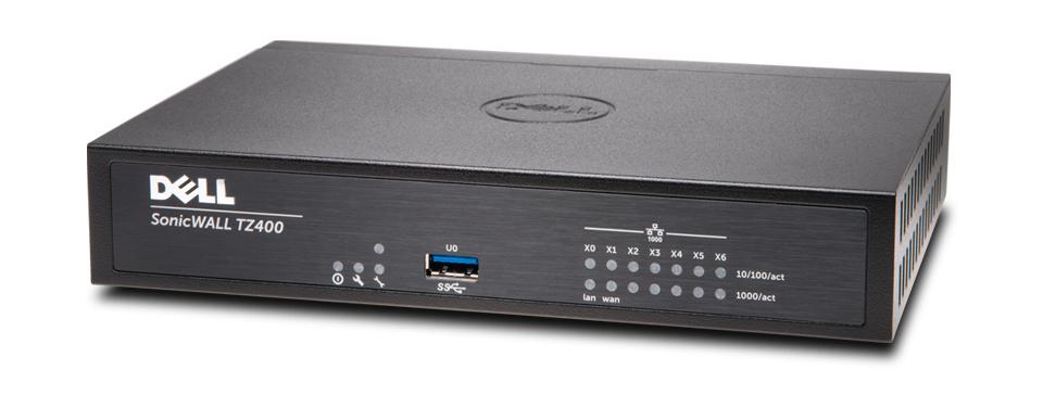 SonicWALL TZ400 Network Security Gigabit Ethernet Firewall (Black)