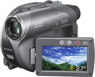 Sony DCR-DVD105E Handycam DVD Camcorder 20x Optical Zoom 2.5 inch LCD Screen with Touch Panel
