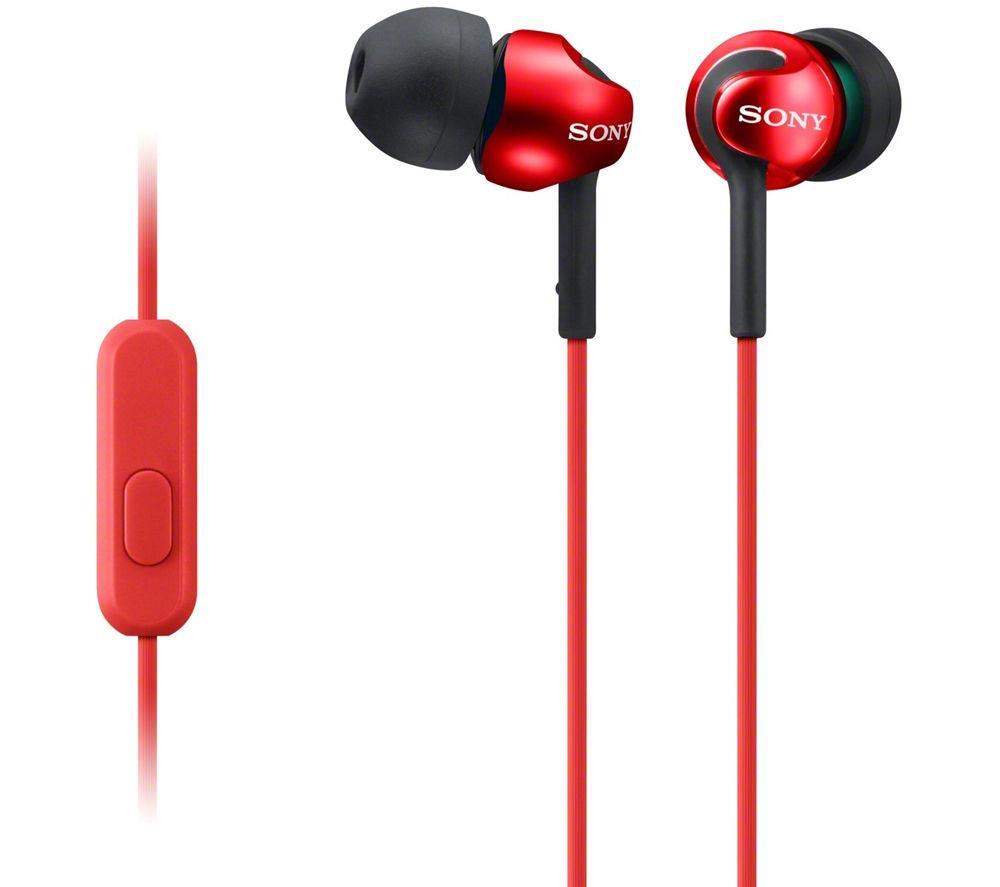 Sony MDR-EX110AP In Ear Headphones (Red)