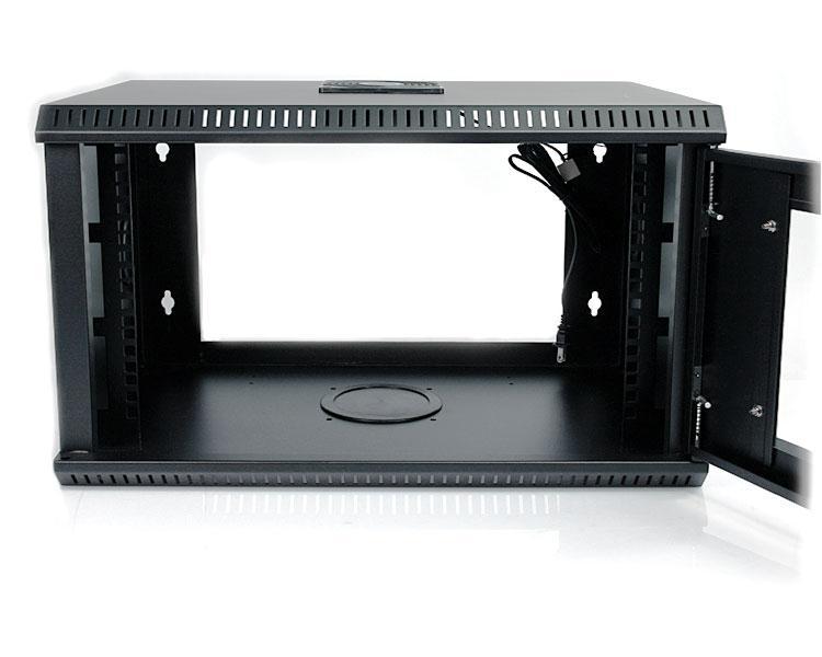 StarTech.com 6U 19 inch Wall Mount Server Rack Cabinet with Acrylic Door (Black)