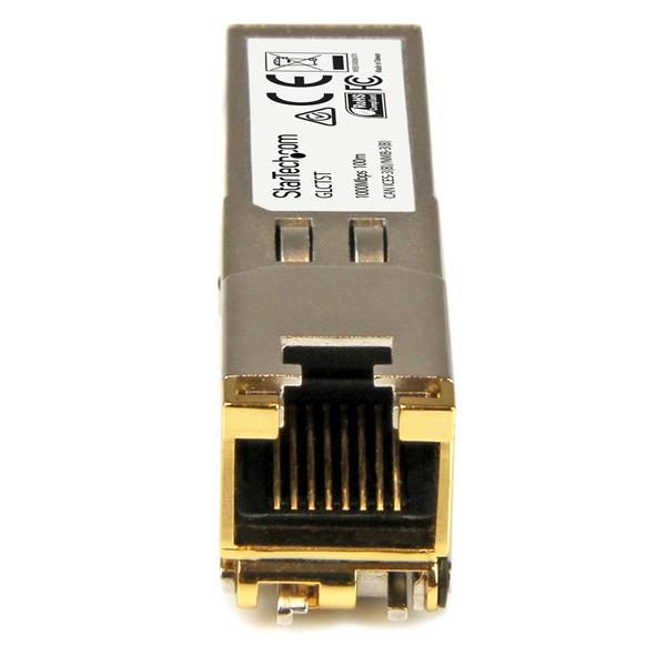 StarTech.com Gigabit Copper SFP Transceiver Module 1000Base-T, RJ45, Cisco GLC-T Compatible (100m) Pack of 10