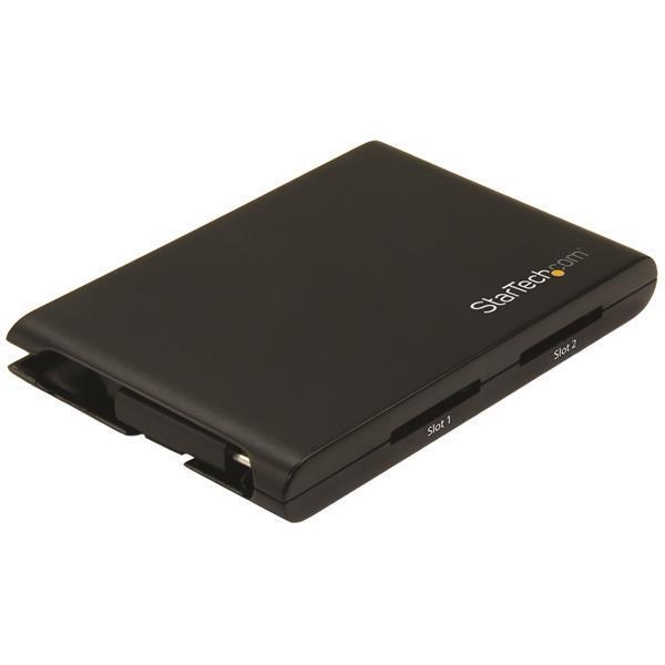 StarTech.com Dual-Slot SD Card Reader/Writer - USB 3.0 with USB-C - SD 4.0, UHS II