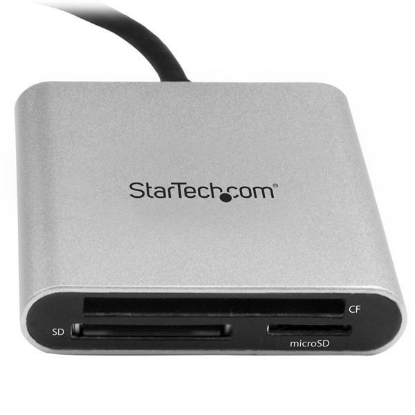 StarTech.com USB 3.0 Flash Memory Multi-Card Reader / Writer with USB-C - SD, microSD, CompactFlash