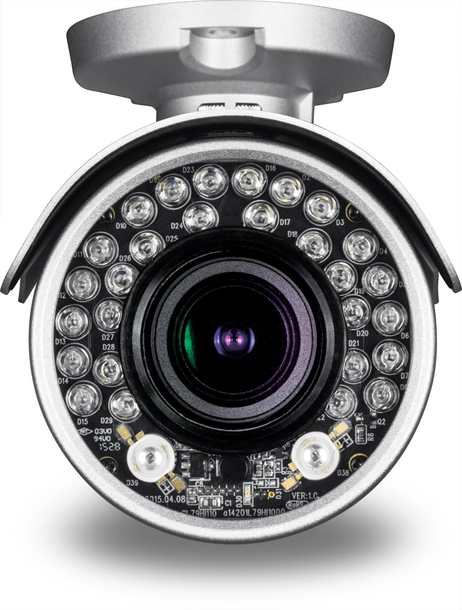 TRENDnet TV-IP344PI (4MP) Network Camera Motorized Vari-Focal PoE Day/Night Indoor/Outdoor Silver (V1.0R)