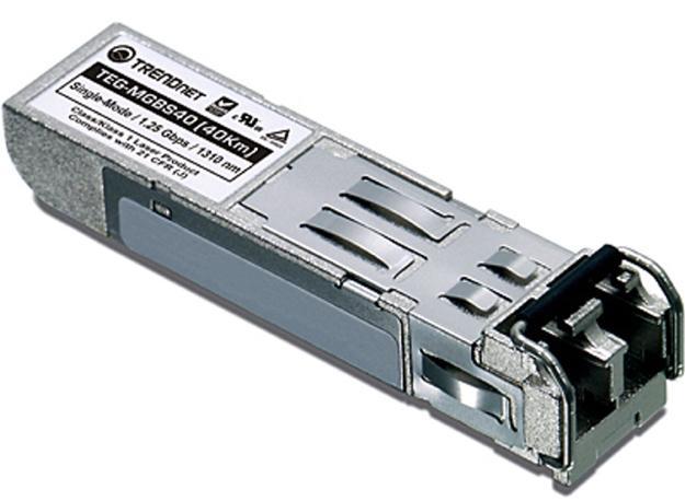 TRENDnet TEG-MGBS40 Mini-GBIC Single-Mode LC Module (40km)
