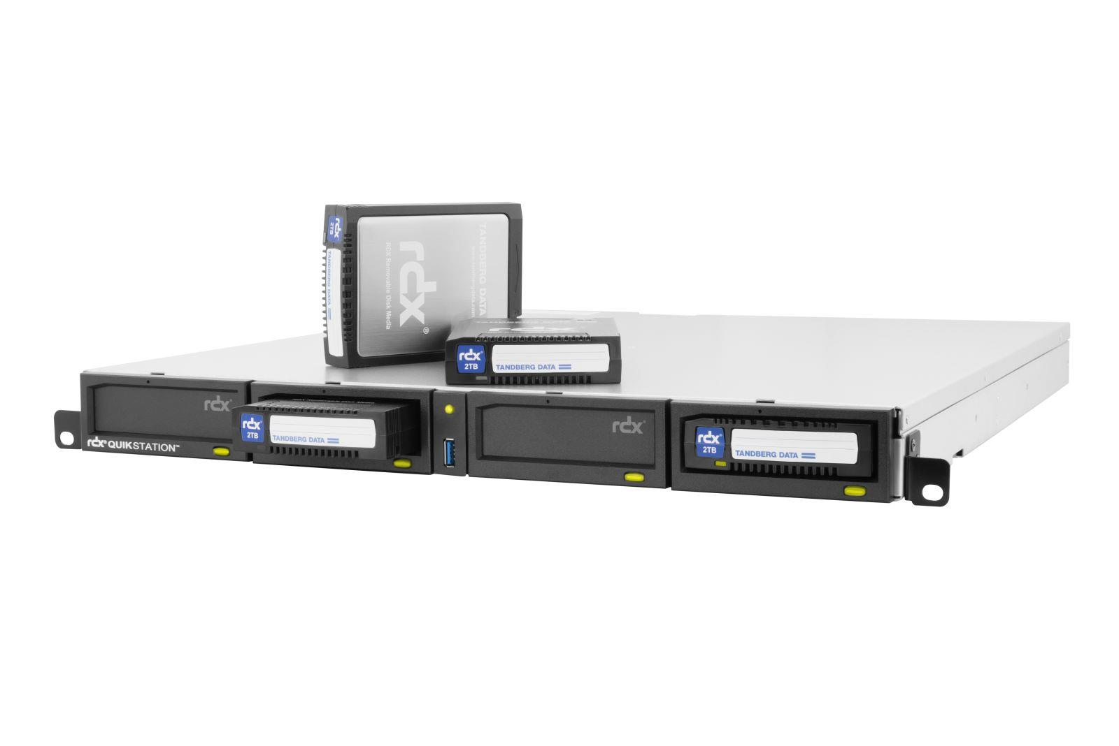 Tandberg RDX QuikStation 4 (4-Dock) 1GbE Attached Removable Disk Array (1U Rackmount)