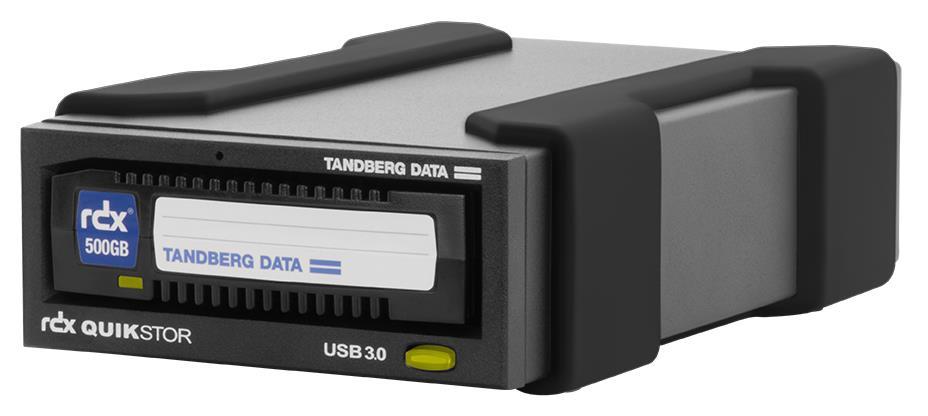 Tandberg Data RDX QuikStor USB+ External Drive Kit with 500GB Cartridge (Black) for RDX Media (Drive and Media)