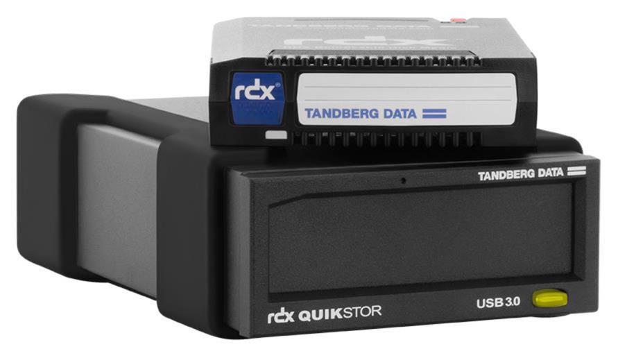 Tandberg Data RDX QuikStor USB+ External Drive Kit with 2TB Cartridge (Black) for RDX Media (Drive and Media)