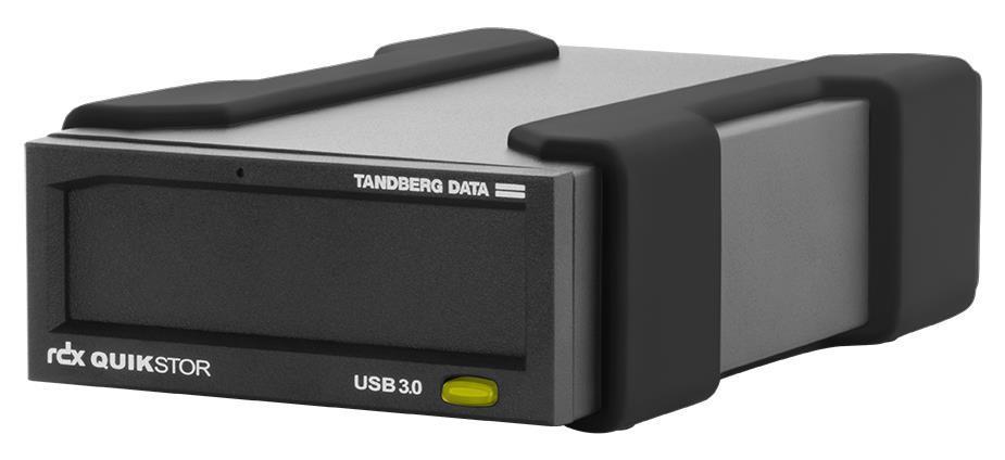 Tandberg Data RDX QuikStor USB+ External Drive Kit with 1TB Cartridge (Black) for RDX Media (Drive and Media)