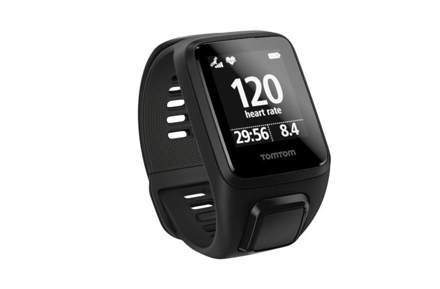 TomTom Spark 3 Cardio and GPS Watch (Black)