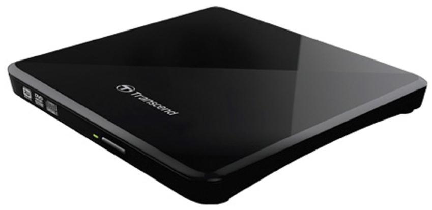 Transcend 8X Extra Slim Portable DVD Writer USB 2.0 (Black)