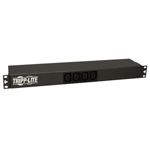 Tripp Lite Single-Phase Basic Power Distribution Unit (PDU) 1U Horizontal Rackmount 12 x C13/2 x C19 Outlets C20 Input with L6-20P Adaptor (Black)