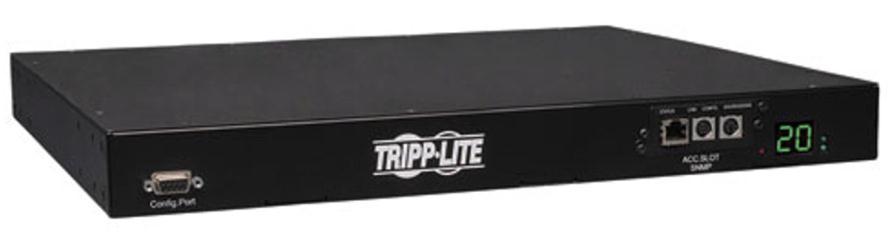 Tripp Lite Single-Phase ATS / Switched PDU, 20A 200-240V, 1U Horizontal Rackmount, C13 & C19 outlets, 2 C20 inputs