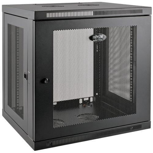 Tripp Lite SmartRack (12U) Low Profile Switch Depth Plus Wall Mount Rack Enclosure Cabinet (Black)