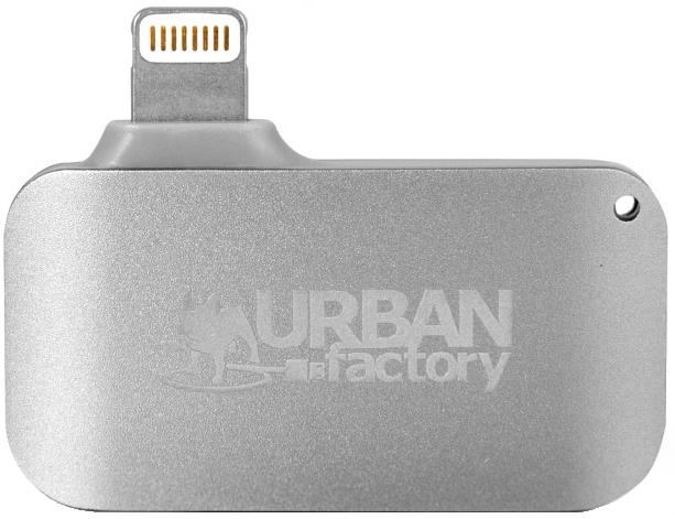 Urban Factory Card Reader with Micro USB Port and Lightning Connector (Grey)