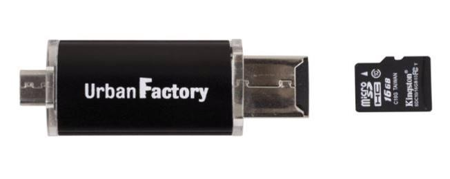 Urban Factory Mini Card Reader (USB/Micro SD - Micro USB)