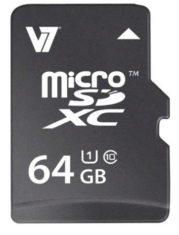 V7 64GB micro SDXC UHS-1 Memory Card for Smartphones and Tablets