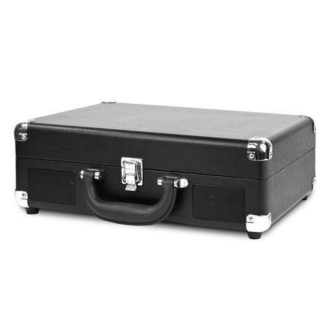 Victrola Bluetooth Portable Suitcase Record Player with 3-Speed Turntable (Black)
