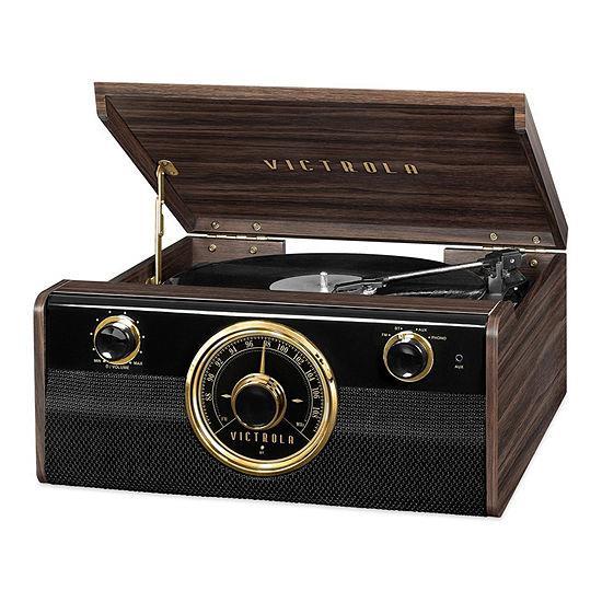 Victrola Empire Junior VTA-240 4-in-1 Bluetooth Turntable Music Centre (Mahogany) EU