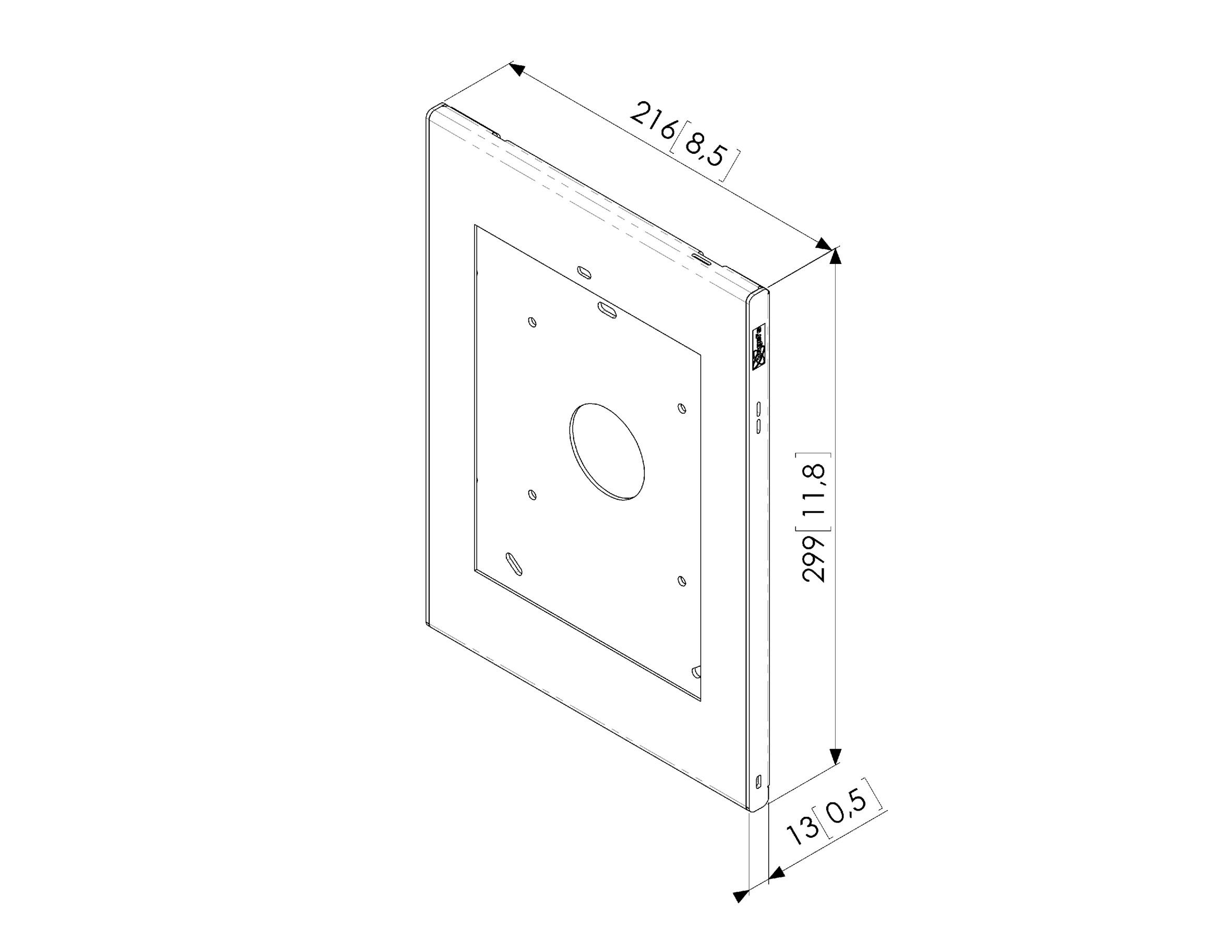 Vogels PTS 1214 TabLock for iPad Air 1/2 and Pro 9.7 Home Button Hidden