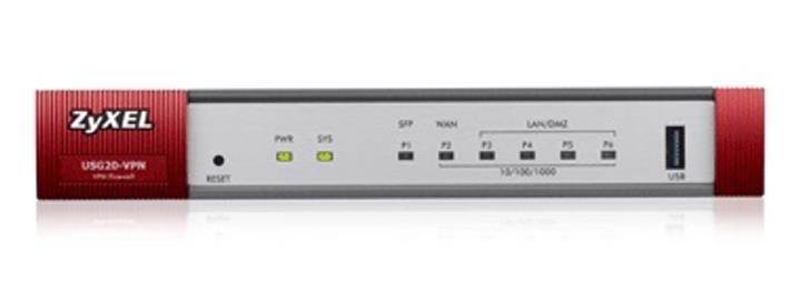 ZyXEL VPN Firewall USG20 1 x WAN 1 x SFP 4 x LAN/DMZ