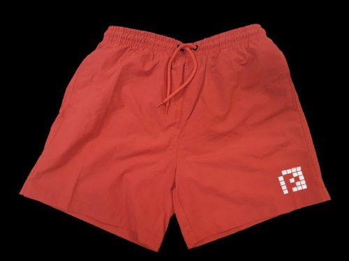 "Red Swim Shorts White ""P"""