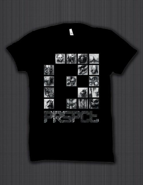 Shirt 'Nightmare Connector' (Black / White)
