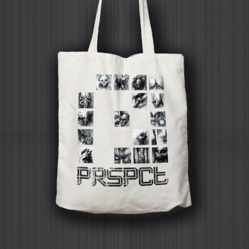 Tote Bag 'Nightmare Connector' (Black / White)